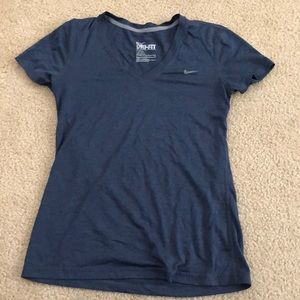 Nike dri-fit top in grey